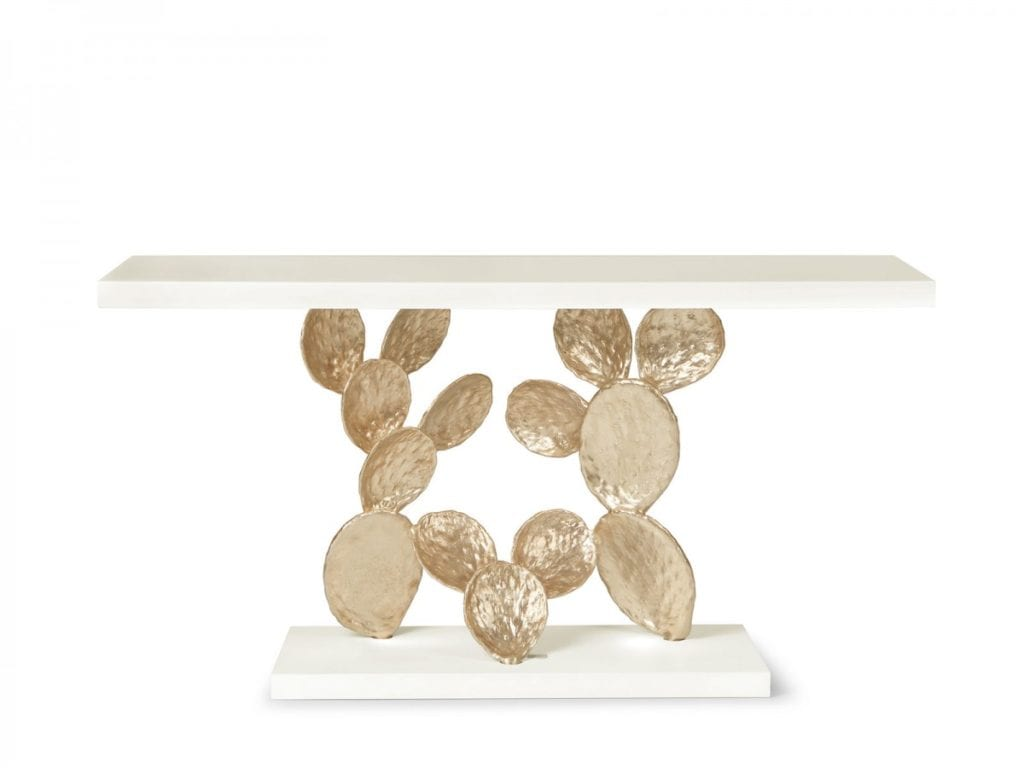 Ginger and Jagger gold and white CACTUS table artistic chic interior design costa blanca