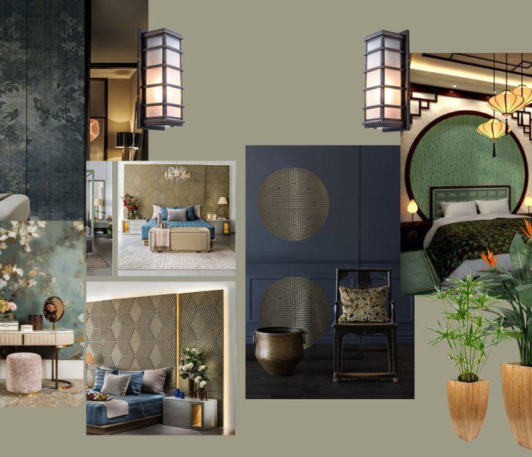 Moodboard oriental influences luxury interior designers Costa Blanca