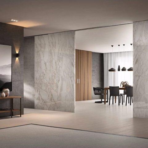 Modern Mood • Marble Sliding Wall