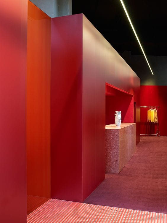 Costa Blanca Interior designers red wall red floor