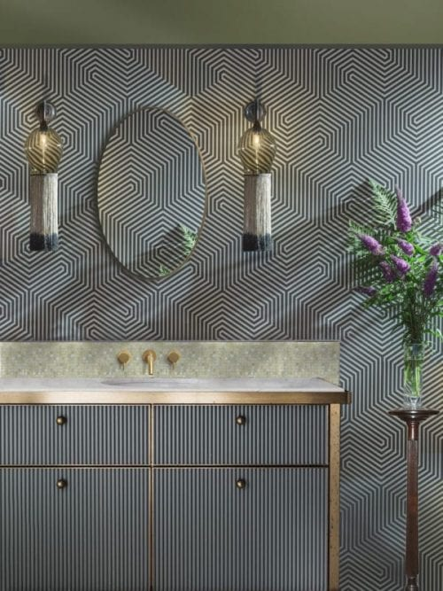 Totally Bold black, white, gold bathroom costa blanca second home