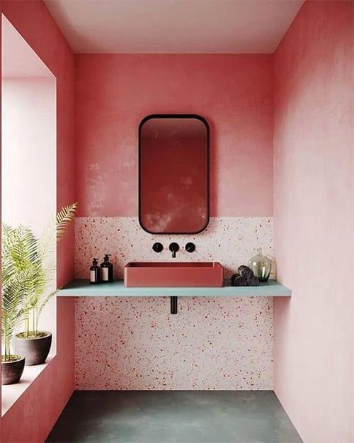 pink bathroom Ibiza Interior Design Render