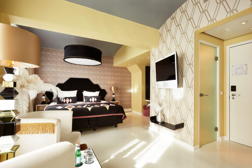 Boutique Hotel interior design Costa Blanca Librije hotel room Vanilla bed