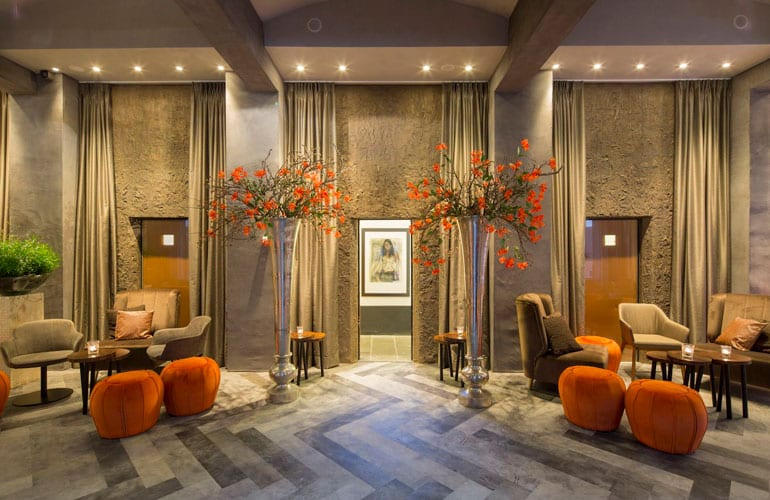leather floor Librije hotel by Villa interior Design on the Costa Blanca