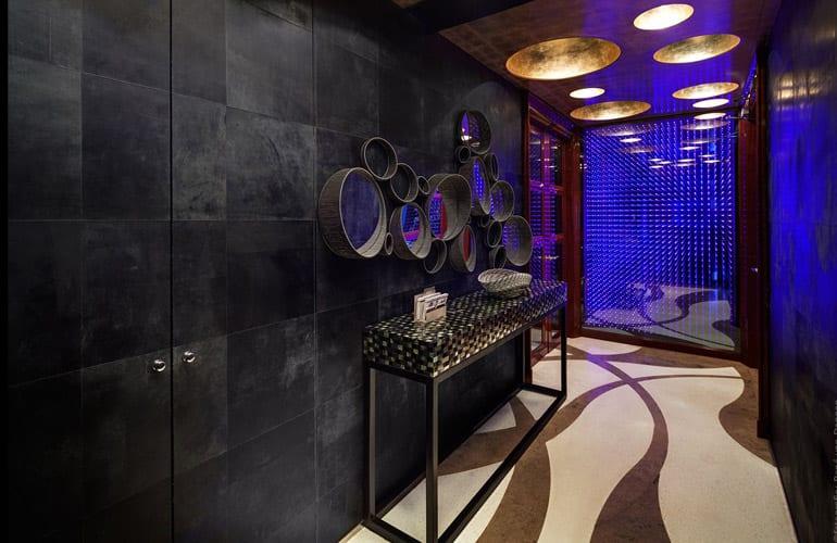 Grey leather walls by Villa interior Design on the Costa Blanca