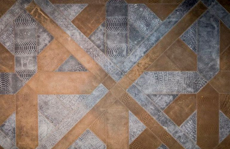 Be Bold Interiors leather rug by Villa interior Design on the Costa Blanca