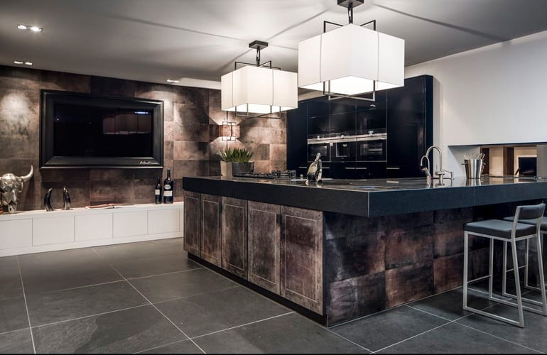 be Bold Interiors kitchen leather top by Villa interior Design on the Costa Blanca