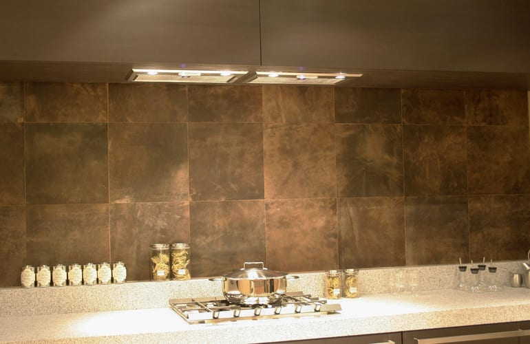 be Bold Interiors leather kitchen backdrop by Villa interior Design on the Costa Blanca