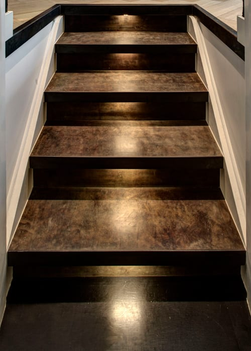 be Bold Interiors leather stairs by Villa interior Design on the Costa Blanca