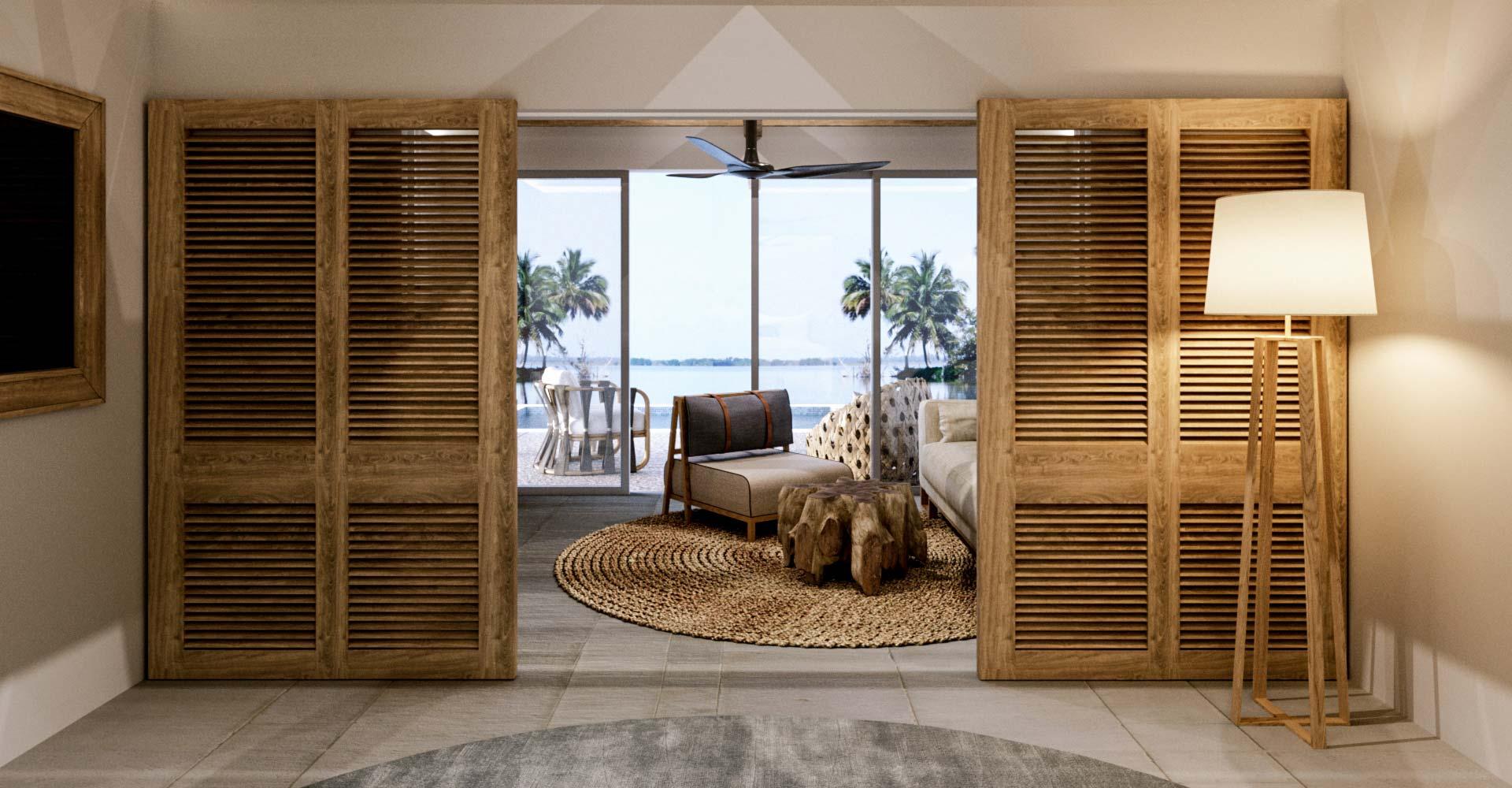 Ibiza style bedroom with sea view by Costa Blanca Interior Design Studio