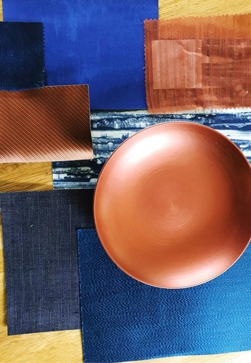 blauwe en aarde kleur ontwerp door Costa Blanca luxe interieurontwerper