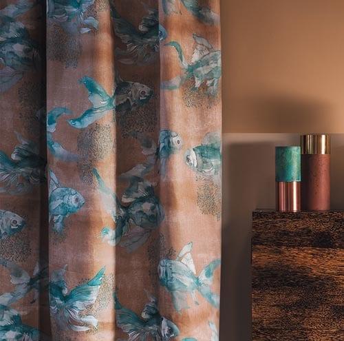 Mediterranean interior styling fish curtain