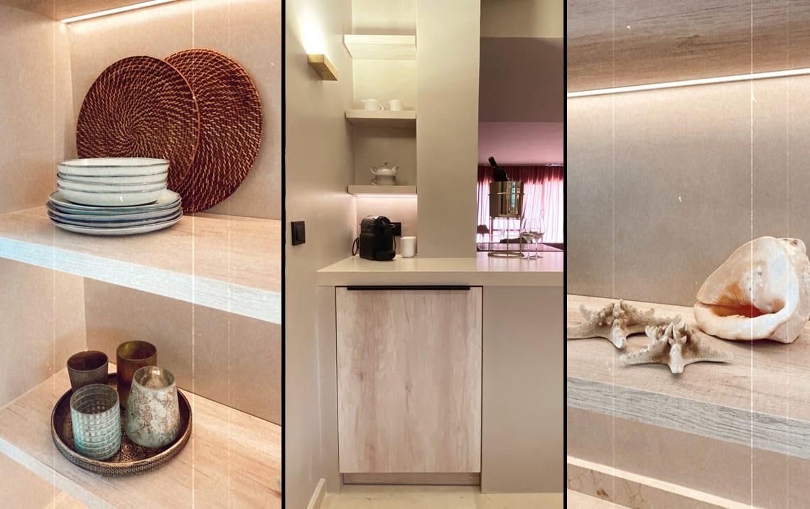 Kitchen renovation collage