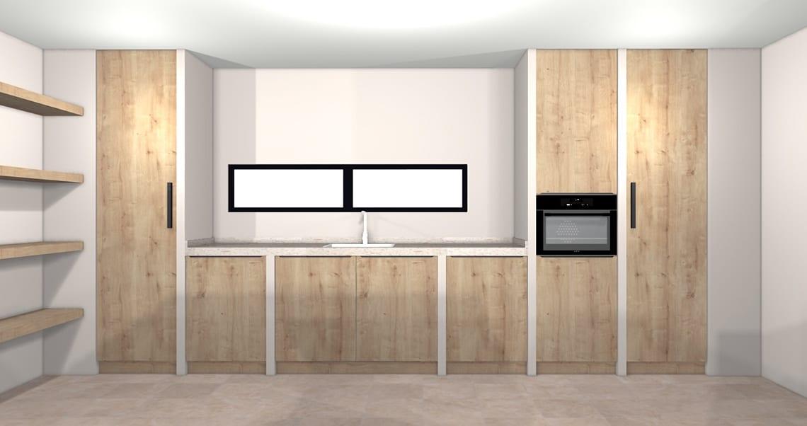 Kitchen renovation wall demo