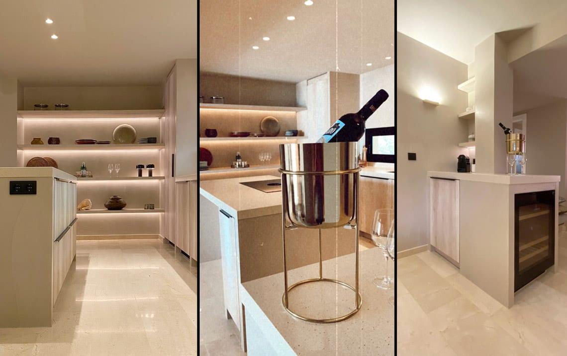 kitchen renovation wine bar