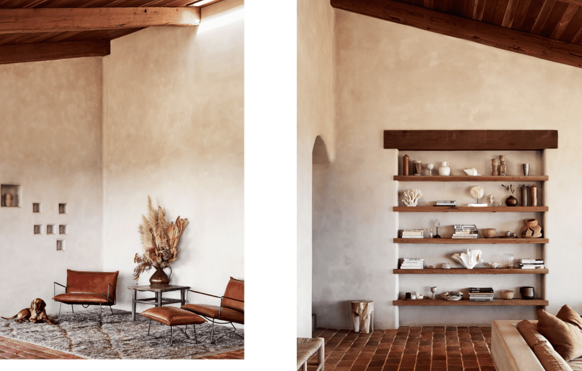 Natural Limewash walls Interior Designers The Farm by the Design files